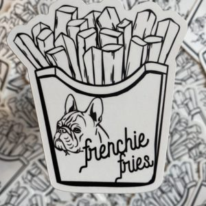 Frenchie Fries - Sticker designed by BARK.