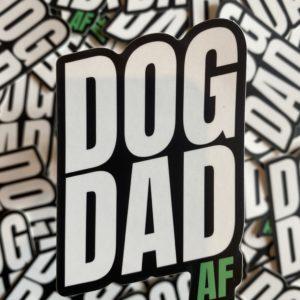 Dog Dad AF - Sticker designed by BARK.