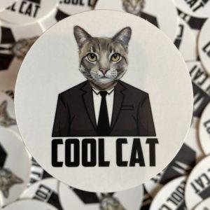 Cool Cat - Sticker designed by BARK.